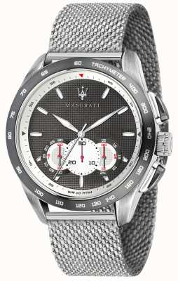 Maserati Mens Traguardo 45mm | Grey/Black Dial | Stainless Steel Mesh R8873612008