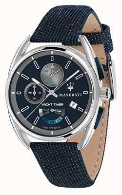 Maserati Trimarano Yatch Timer 41 | Blue Dial | Blue Fabric Strap R8851132001