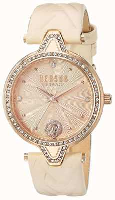 Versus Versace Womens 'Versus V Versus' | Light Rose Dial | Rose Leather VSPCI3317