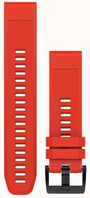 Garmin Flame Red Rubber Strap QuickFit 22mm Fenix 5 / Instinct 010-12496-03