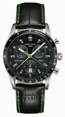 Certina Men's DS-2 Chronograph | Precidrive Leather | Black Dial C0244471605102