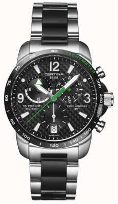 Certina | DS Podium | GMT Chronograph | Steel Black Carbon | C0016392220702