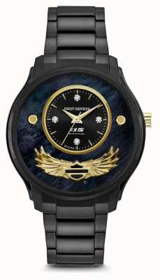 Harley Davidson Womens 115th Limited Edition | Black Sunray Dial | 78P101