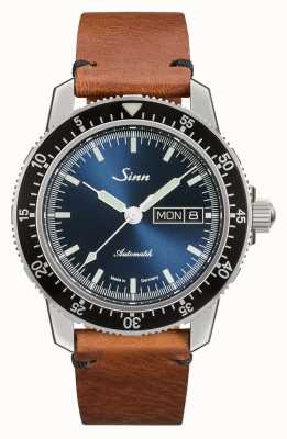 Sinn 104 St Sa I B | Vintage Brown Leather Strap 104.013 VINTAGE BROWN LEATHER
