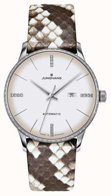 Junghans Meister Damen Automatic | Diamonds | Python & Lizard Straps 027/4847.00