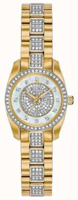 Bulova Women's Two Tone Crystal Set Bracelet Dial 98L241