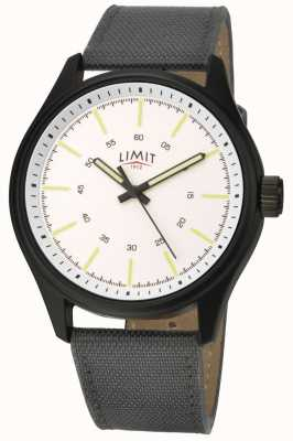 Limit | Mens | Black Nylon Strap | White Dial | 5949.01