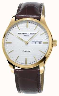 Frederique Constant | Men's Classic Quartz | Brown Leather Strap FC-225ST5B5