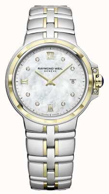 Raymond Weil Womens Parsifal | Diamond Dial | Two Tone 5180-STP-00995