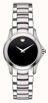 Movado | Womens Military Steel Watch | Black Dial | 0605870