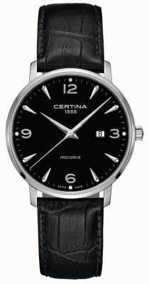 Certina Mens DS Caimano Black Leather Strap Black Dial C0354101605700