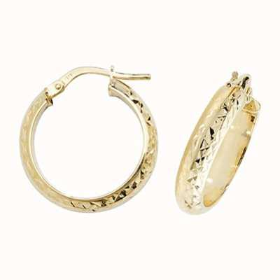 Treasure House 9k Yellow Gold Hoop Earrings 15 mm ER1044-15