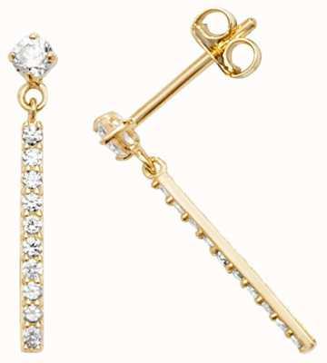 Treasure House 9k Yellow Gold Cubic Zirconia Stud Earrings ES592