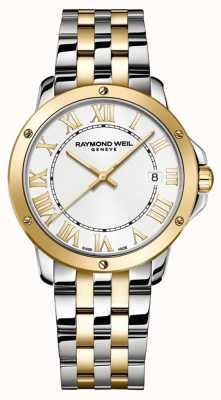 Raymond Weil Mens Tango | Two Tone Stainless Steel Bracelet | White Dial 5591-STP-00308