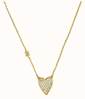 "Adore By Swarovski Pointed Heart Necklace 16-18"" Gold Plated 5303078"