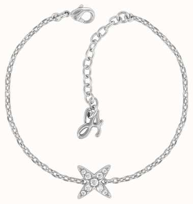 "Adore By Swarovski 4 Point Star Bracelet Silver 6.5-8"" Adjustable 5259853"