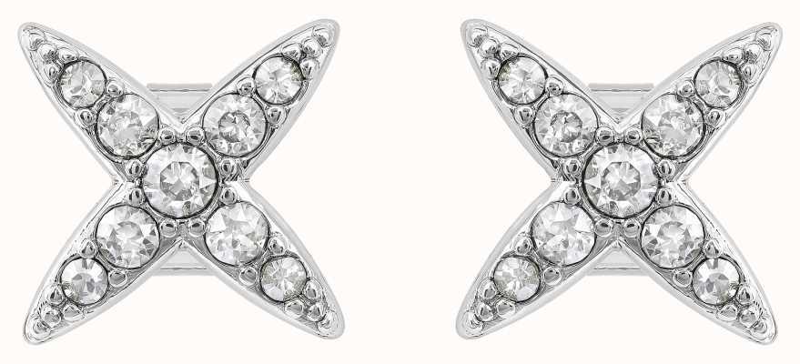 Adore By Swarovski 4 Point Star Earrings Silver 5259857