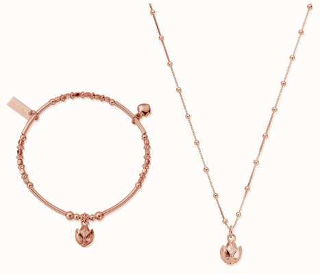 ChloBo | Rose Gold Beautiful Soul Set | Necklace & Bangle RBNVAL19