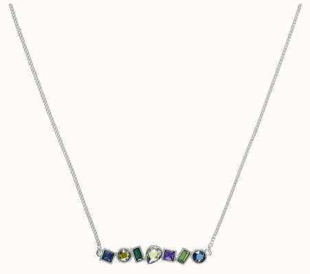 "Adore By Swarovski Mixed Crystal Bar Necklace Silver 16-18"" Length 5375513"