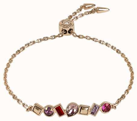 Adore By Swarovski Mixed Crystal Bar Bracelet Rose Gold Adjustable 5375519