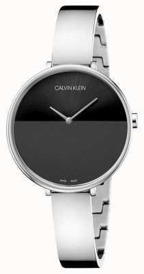 Calvin Klein | Womens  Rise Stainless Steel Bracelet | Black Dial | K7A23141