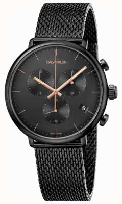 Calvin Klein | Mens High Noon Black Stainless Steel | Chronograph | K8M27421