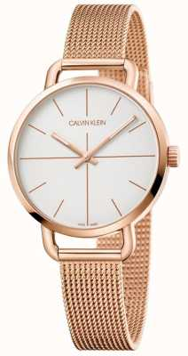 Calvin Klein | Womens Extension Watch | Rose Gold Stainless Mesh | K7B23626
