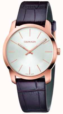 Calvin Klein | City Extension Watch | Brown Leather Strap | Silver Dial | K2G226G6