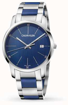 Calvin Klein | Mens City Extension | Two Tone Stainless Steel | Blue Dial K2G2G1VN