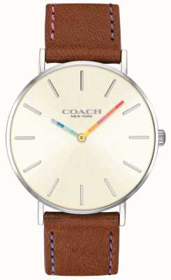 Coach | Womens Perry Watch | Brown Leather Strap White Dial | 14503032