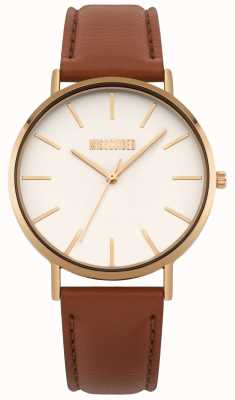 Missguided | Ladies Watch | Brown Leather White Dial | MG017TRG