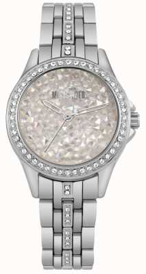Missguided | Ladies Stainless Steel Watch | Silver Stone Dial | MG013SM