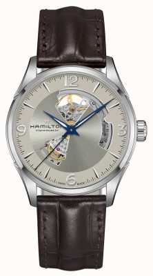 Hamilton Jazz Master Automatic Open Heart 42mm Silver Dial Brown H32705521