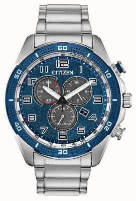 Citizen Eco-Drive Action Required Men's Blue Dial WR100 AT2440-51L