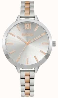Missguided | Women's Two Tone Stainless Steel Bracelet | Silver Dial | MG005SRM