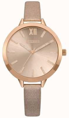 Missguided | Womens Nude And Rose Gold Strap | Rose Gold Dial | MG005CRG