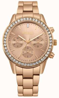 Missguided | Womens Rose Gold Stainless Steel | Rose Dial | Chronograph MG002RGM