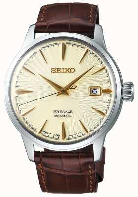 Seiko | Mens | Presage | Automatic | Brown Leather Strap | SRPC99J1