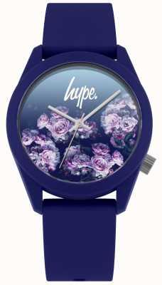 Hype | Navy Silicone Strap | Navy Flower Dial | HYU010U