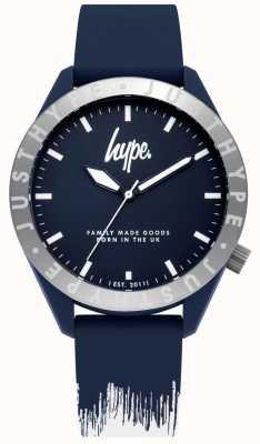 Hype | Mens Blue/White Silicone Strap | Blue Dial | HYG006UW