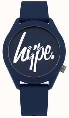Hype | Mens Blue Silicone Strap | Blue And White Dial | HYG001U