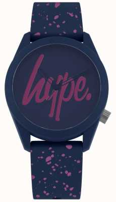 Hype | Womens Navy Purple Paint Silicone Strap | Navy/Purple Dial HYL001UP