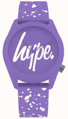 Hype | Womens Purple And White Silicone Strap | Purple Dial | HYL001VW