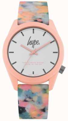 Hype   Pink Multi-Colour Silicone Strap   White Dial   HYU009PU