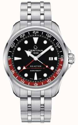 Certina | DS Action | Stainless Steel Bracelet | Black Dial | C0324291105100