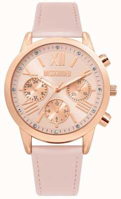 Missguided | Ladies Pink Leather Strap | Pink Dial | MG019PRG