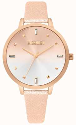 Missguided | Ladies Rose Gold Leather Watch | Two Tone Dial | MG020RG