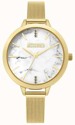 Missguided | Ladies Gold Mesh Watch | MG011GM