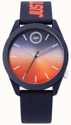 Hype | Mens Blue Silicone Watch | Two Tone Dial | HYU020UO