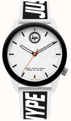 Hype | Mens Watch | White And Black Silicone Strap | HYU018BW